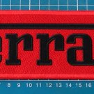 "FERRARI PATCH HUGE EMBROIDERED SPORT 9"" RACING CLASSIC MUSCLE CAR AUTOMOTIVE"