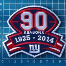 NEW YORK GIANTS 90th SEASONS PATCH FOOTBALL NFL SUPERBOWL JERSEY SEW EMBROIDERY