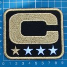CAPTAIN C PATCH NFL FOOTBALL SUPERBOWL BLACK AND GOLD 1 STAR GOLD PATCH EMBROIDE