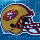 SAN FRANCISCO 49ers NFL SUPERBOWL FOOTBALL HELMET LOGO PATCH SEW ON EMBROIDERY