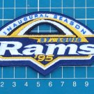 ST. LOUIS RAMS FOOTBALL NFL SUPERBOWL PATCH INAUGURAL SEASON SEW EMBROIDERED