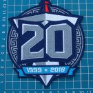 TENNESSEE TITANS 2018 20th ANNIVERSARY FOOTBALL NFL SUPERBOWL PATCH EMBROIDERED