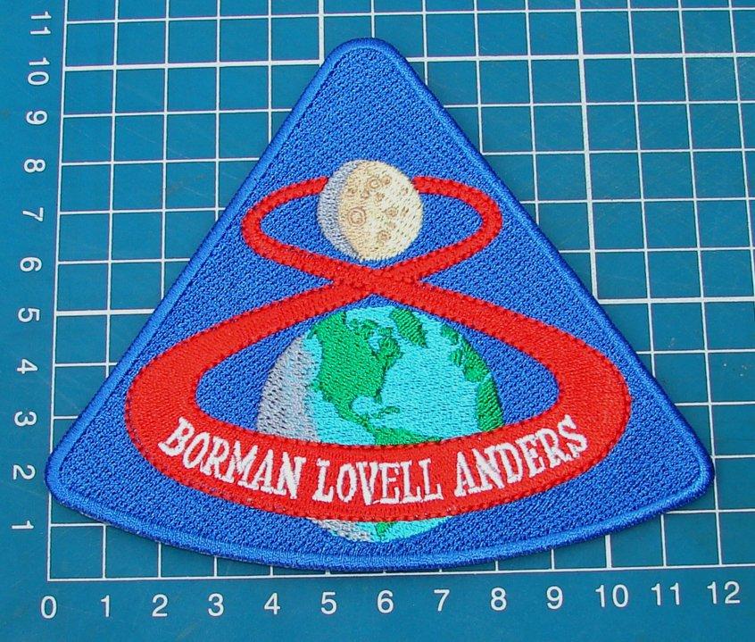 "NASA Apollo Program Apollo 8 Borman Lovell anders Patch US Space 4"" embroidered"