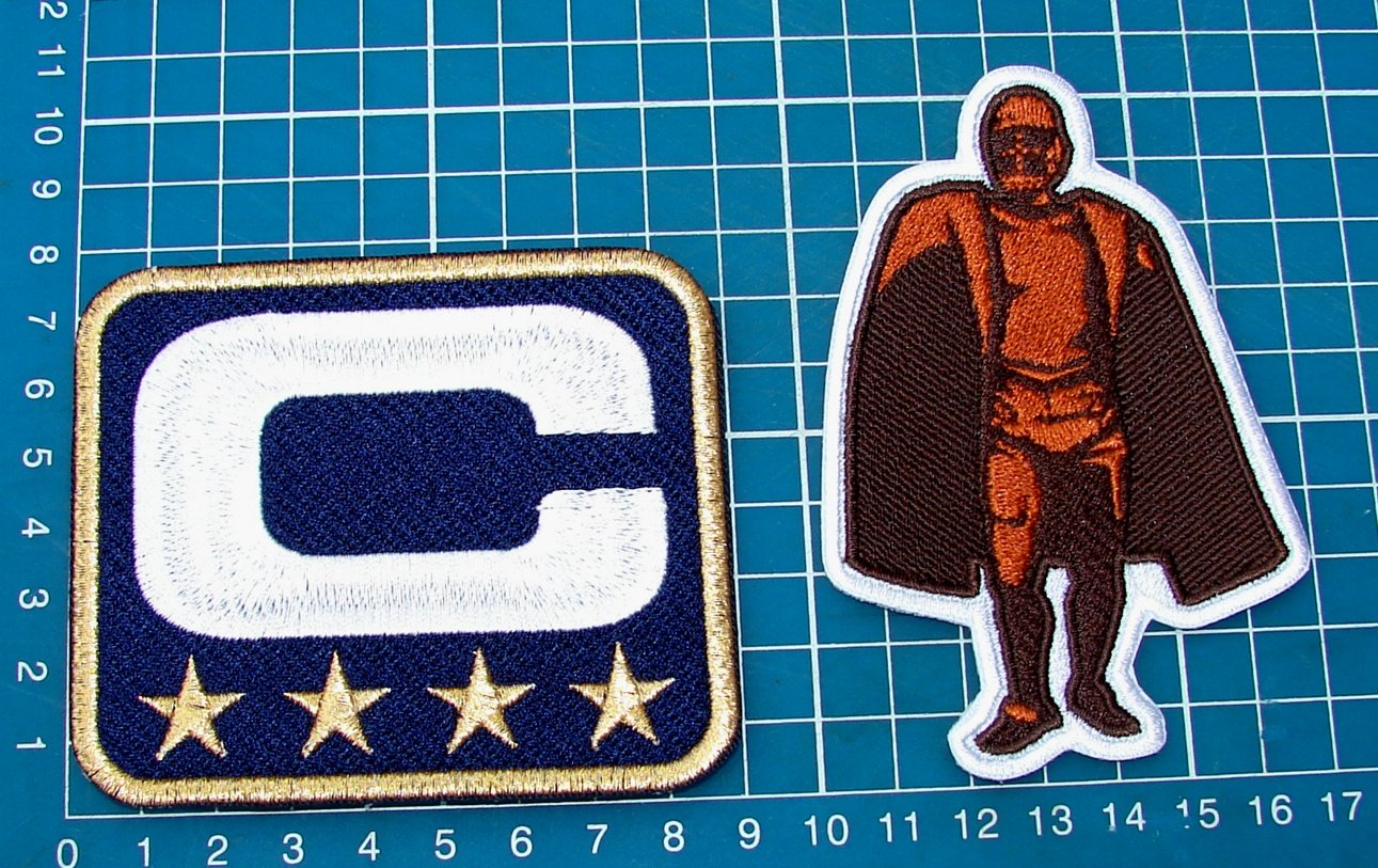 DALLAS COWBOYS TEAM LEADER 4â­�CAPTAIN C + Walter Payton Man of Year Patch Football
