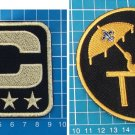 NEW ORLEANS SAINTS DREW BREES 4-⭐GOLD C + TOM BENSON + Payton Man-of-Year PATCH