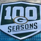 "2018 GREEN BAY PACKERS 100 SEASONS COMMEMORATIVE PATCH FOOTBALL 10"" EMBROIDERY"
