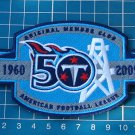 TENNESSEE TITANS 50th ANNIVERSARY MEMBER PATCH JERSEY FOOTBALL NFL EMBROIDERED