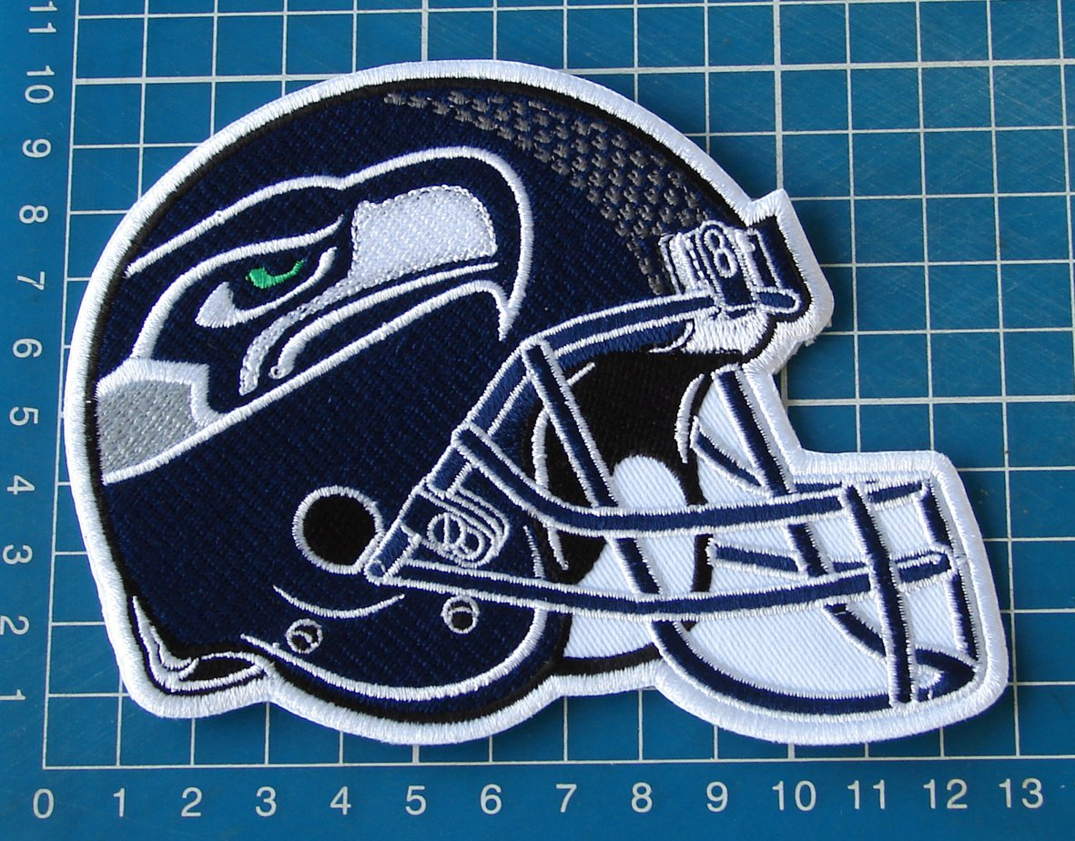 """SEATTLE SEAHAWKS HELMET NFL FOOTBALL SUPERBOWL 5"""" PATCH JERSEY SEW EMBROIDERED"""