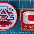 2017 NFL KANSAS CITY CHIEFS LAMAR HUNT PATCH + CAPTAIN C -4 gold star 2-patches
