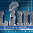 2019 Superbowl LIII 53rd Super Bowl NFL FOOTBALL Silver Patch sew embroidery