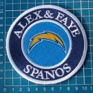 ALEX & FAYE SPANOS PATCH SAN DIEGO CHARGERS LOS ANGELES MEMORIAL PHILIP RIVERS