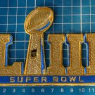 2019 Superbowl LIII 53rd GOLD Super Bowl NFL FOOTBALL Jersey Patch embroidered