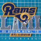 St. Louis Rams 2019 superbowl super bowl LIII 53rdNFL football Patch Jersey Sew