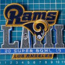 2019 Superbowl Rams Los Angeles Championships Jersey Patch Logo embroidered