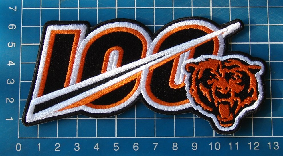 "Chicago Bears 100th Anniversary seasons logo Patch 5"" NFL Football embroidered"