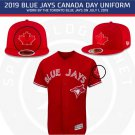 "2019 MLB Toronto Blue Jays Maple Leaf Sleeves Caps Jersey 3"" Patch Embroidered"