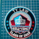 "2019 HALL OF FAME TY LAW PRO FOOTBALL PATCH 4.5"" NFL CANTON OHIO SUPERBOWL"