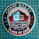 "CHAMP BAILEY 2019 HOF DENVER BRONCOS PRO FOOTBALL PATCH 4.5"" NFL CANTON OHIO"