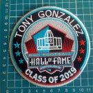 "TONY GONZALEZ 2019 HOF KANSAS CITY CHIEF PRO FOOTBALL HALL OF FAME PATCH 4.5"""