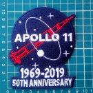 """Apollo 11 50th anniversary 4"""" patch 1969-2019 Astronauts Exploration Mission"""