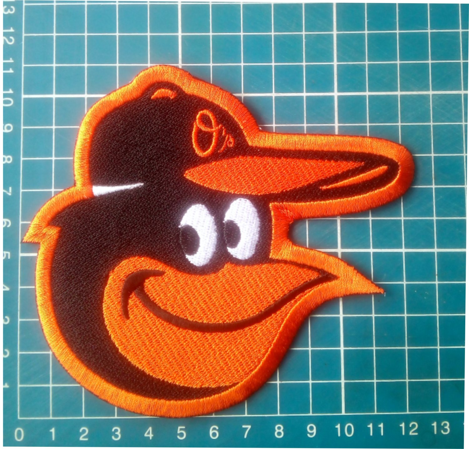 """Baltimore Orioles Bird Macot 5"""" Baseball MLB logo Patch Embroidered Jersey"""