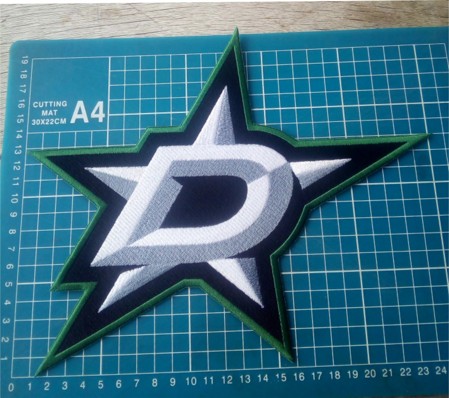 """Dallas Star NHL Hockey Huge 10"""" Patch Jersey sew on embroidery"""