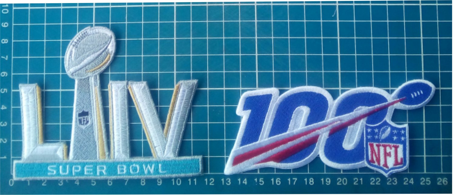 superbowl LIV 54 NFL 100 years Football championship Jersey Patch embroidered