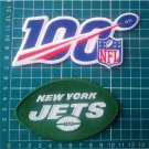 "New York Jets and NFL 100 years seasons anniversary 4"" patch logo Football"