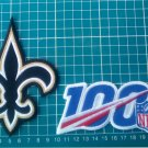 "2019 NFL 100 years seasons anniversary and New Orleans Saints 4"" patch Football"