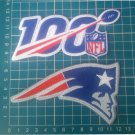 "New England Patriots and NFL 100 years seasons anniversary 5"" patch Football"