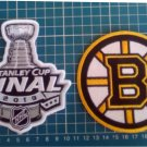 Boston Bruins 2019 NHL Stanley Cup Final Champions logo Patch 2pcs Embroidered
