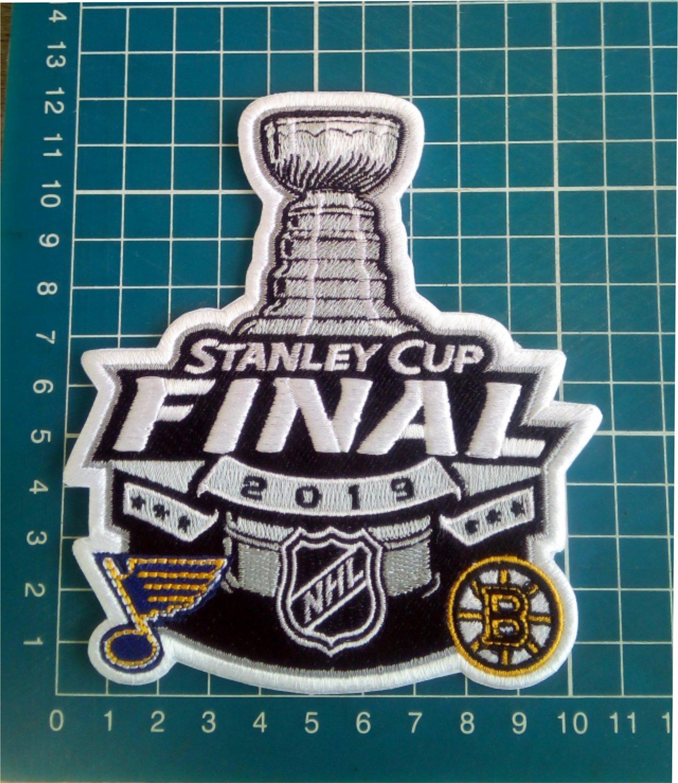 2019 NHL Stanley Cup Final Match Boston Bruins vs. St. Louis Blues Patch embroid