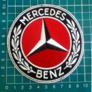 "Mercedes Benz Embroidered Logo Patch German Car Auto Red 4"" Jersey"