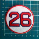 "Wade Boggs Retired Number 26 Boston Red Sox MLB Baseball 3"" Patch embroidered"