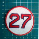 "Carlton Fisk Retired Number 27 Boston Red Sox MLB Baseball 3"" Patch embroidered"