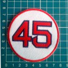 "Pedro Martinez Retired Number 45 Boston Red Sox MLB Baseball 3"" Patch embroidered"