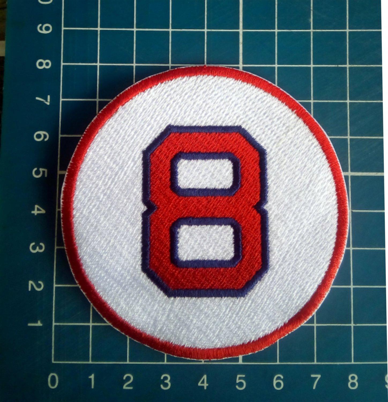 "Carl Yastrzemski Retired Number 8 Boston Red Sox MLB Baseball 3"" Patch embroidered"
