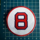 "Carl Yastrzemski Retired Number 8 Boston Red Sox MLB Baseball 3"" Patch embroidered"