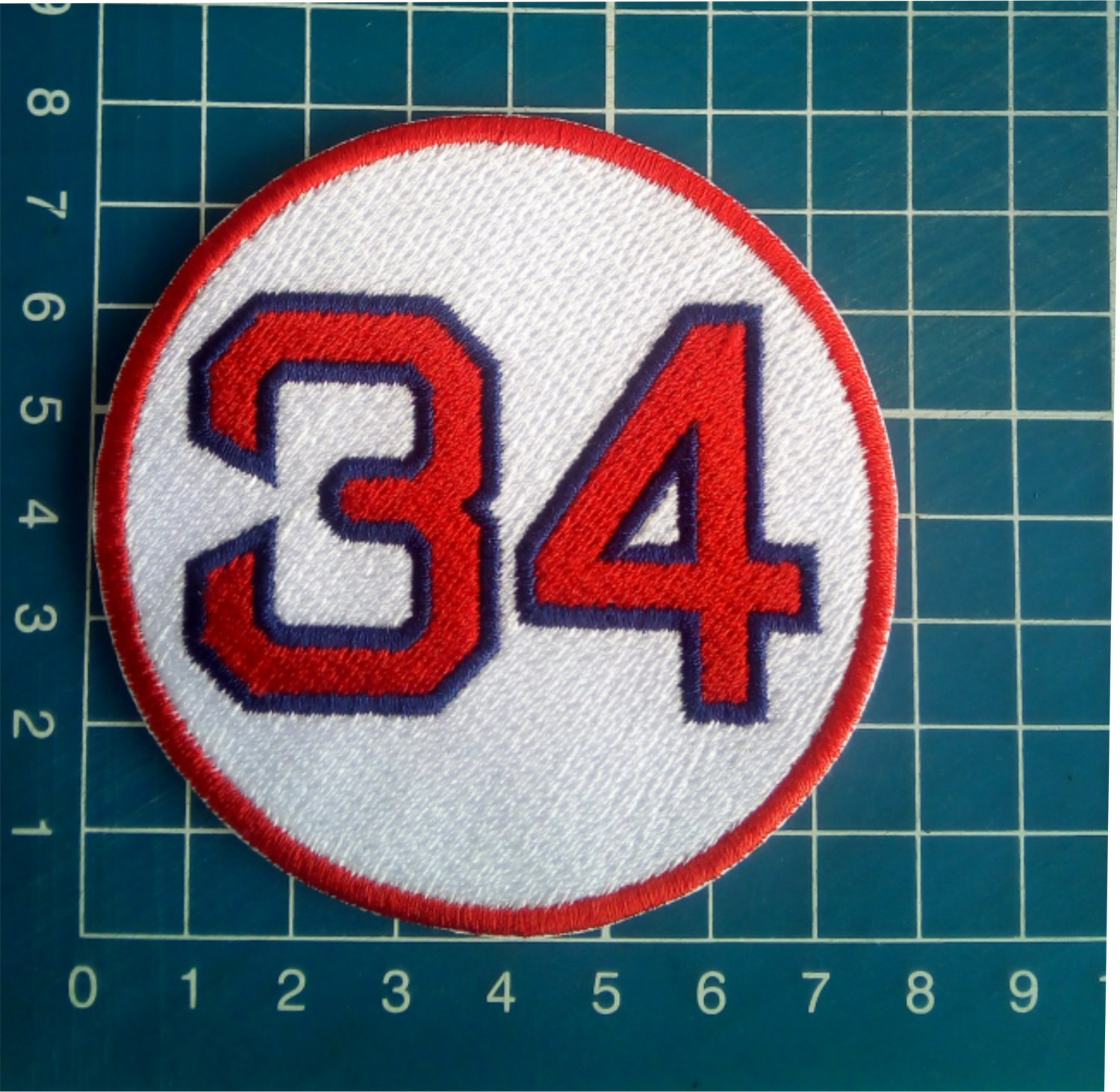 """David Ortiz Retired Number 34 Boston Red Sox MLB Baseball 3"""" Patch embroidered"""