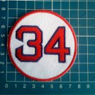"David Ortiz Retired Number 34 Boston Red Sox MLB Baseball 3"" Patch embroidered"