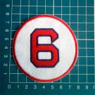 "Johnny Pesky Retired Number 6 Boston Red Sox MLB Baseball 3"" Patch embroidered"