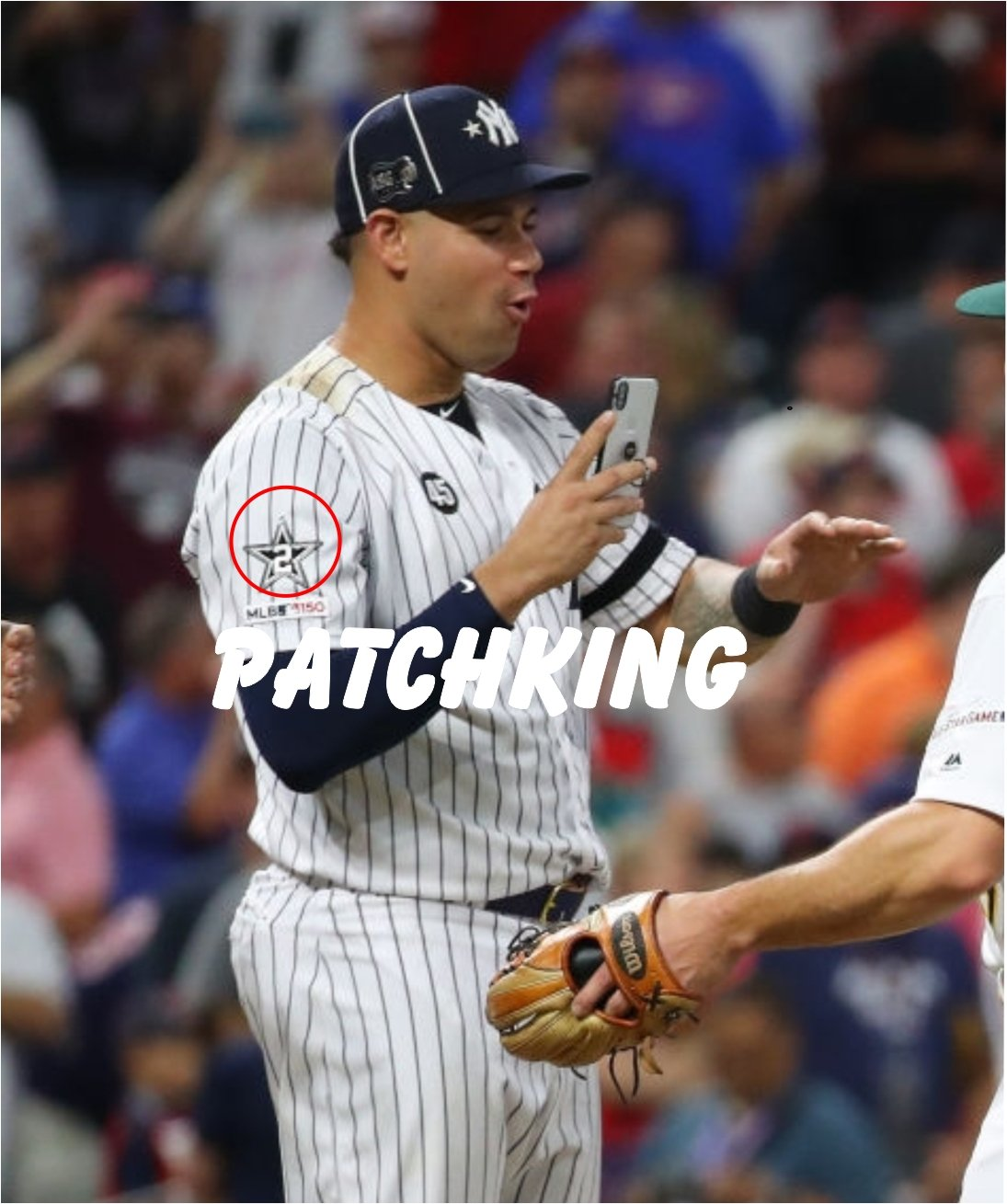 """Baseball First Time Game MLB Gary Sanchez star 2 patch 3"""" jersey embroidered"""