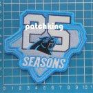 "2019 Carolina Panthers 25th season silver anniversary 4"" patch NFL Football"