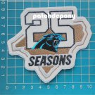"""Carolina Panthers 25th anniversary 2019 season patch NFL Football embroidered 4"""""""