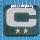 GREEN PACKERS CAPTAIN C PATCH 2 GOLD STAR 2019 SEASON NFL FOOTBALL SUPERBOWL