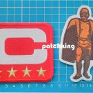 2019 Captain C patch RED 4 gold star + Walter Payton Man of Year Patch