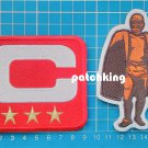 2019 Season Captain C patch RED 3 gold star + Walter Payton Man of Year Patch