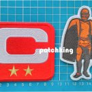 2019 Season Captain C patch RED 2 gold star + Walter Payton Man of Year Patch