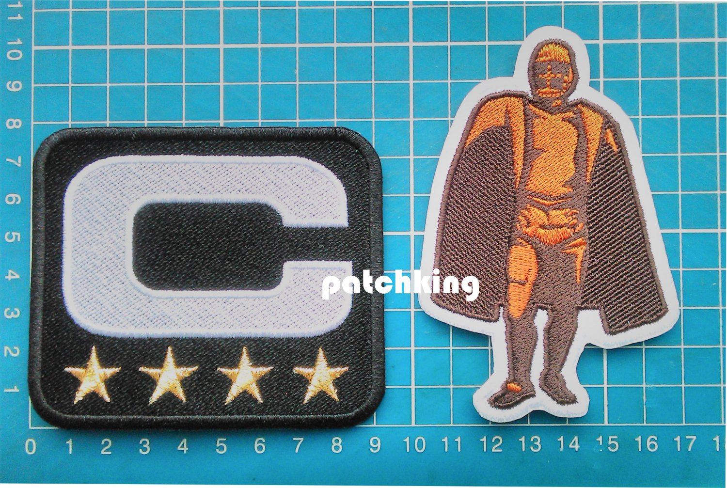 New Orleans Saints Captain C patch 4 gold star Walter Payton Man of Year Patch