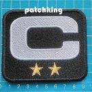 "2019 SEASON Oakland Raiders Captain C patch 3.5"" Black C White 2 Gold Star logo"